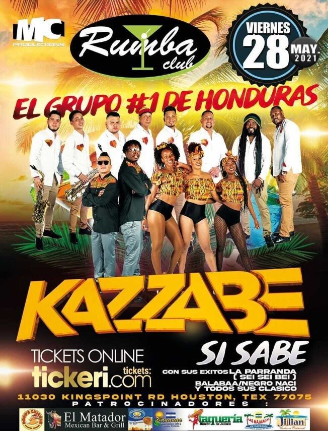 Flyer for Kazzabe En Vivo [Rumba Club, Houston]