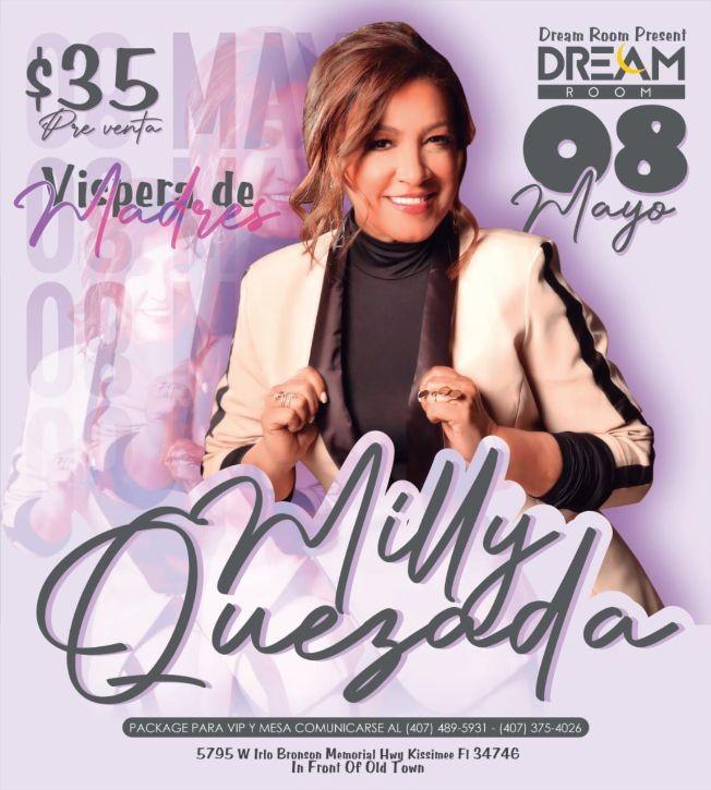Flyer for Vispera de Madres con Milly Quezada
