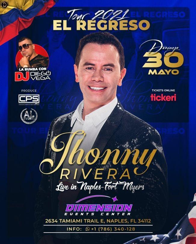 Flyer for JHONNY RIVERA EN NAPLES