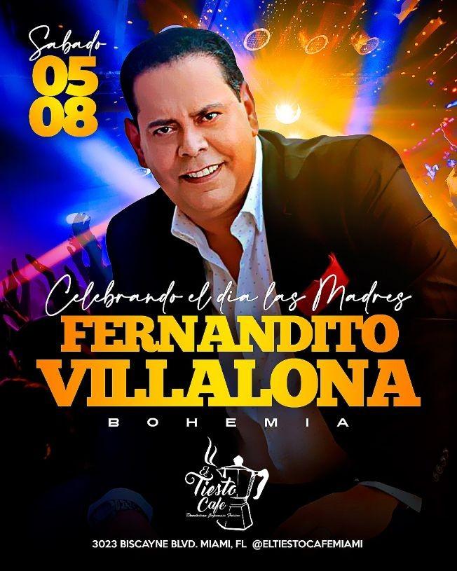 Flyer for Celebrando el Dia de las Madres: Fernandito Villalona en Concierto!