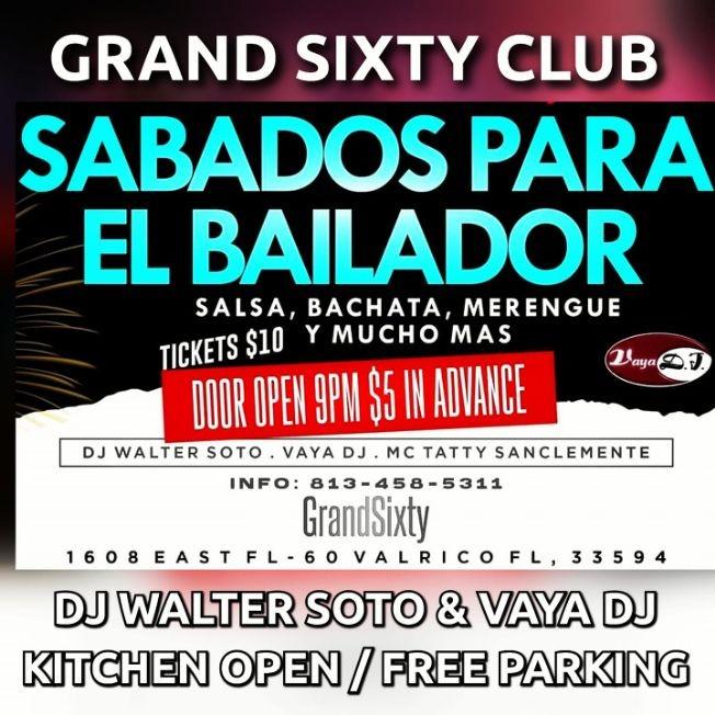Flyer for Sabados Para El Bailador - Tampa, FL
