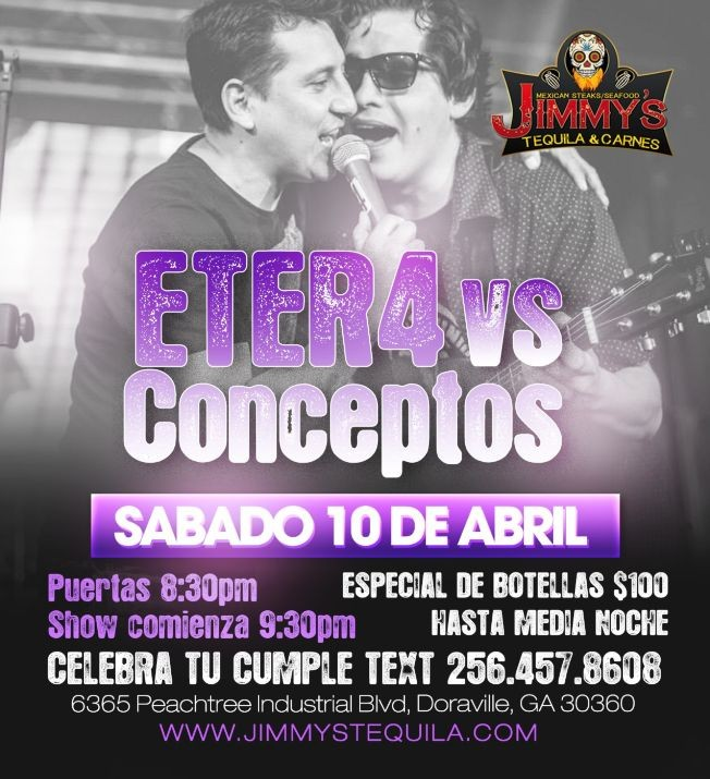 Flyer for ETER4 vs CONCEPTOS LIVE!