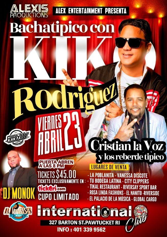 Flyer for Bachatipico con Kiko Rodriguez en Concierto!