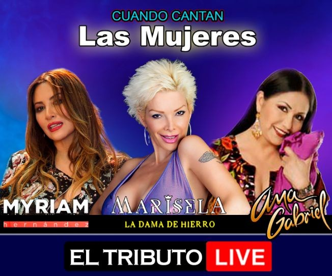 """Flyer for CUANDO CANTAN LAS MUJERES """"EL TRIBUTO LIVE"""""""