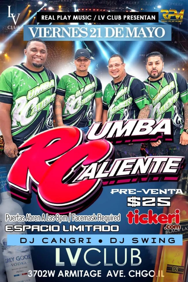 Flyer for Rumba Caliente en Chicago