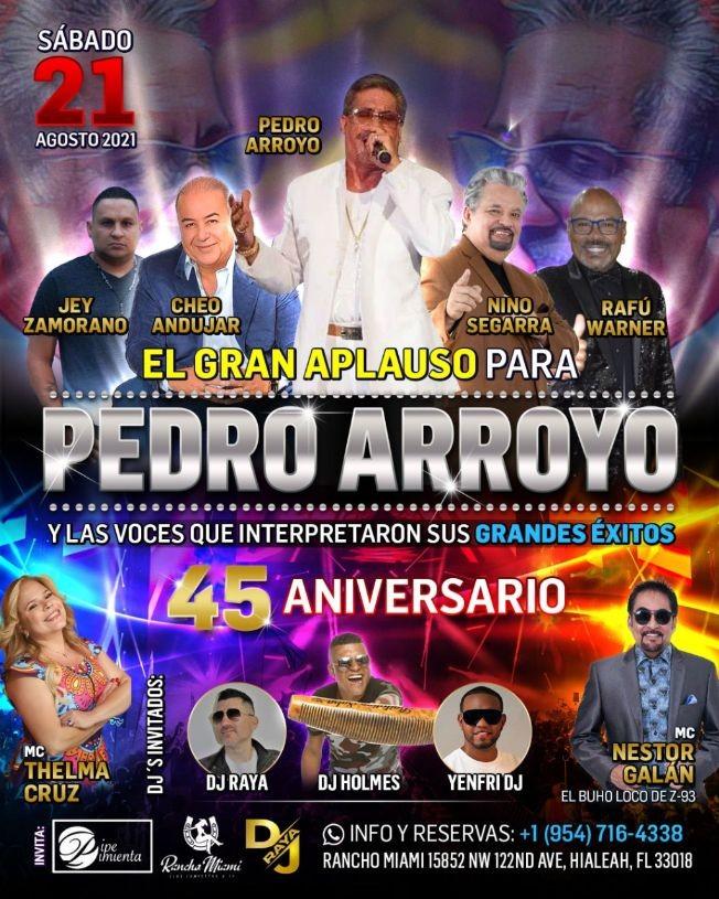 Flyer for PEDRO ARROYO - EL GRAN APLAUSO