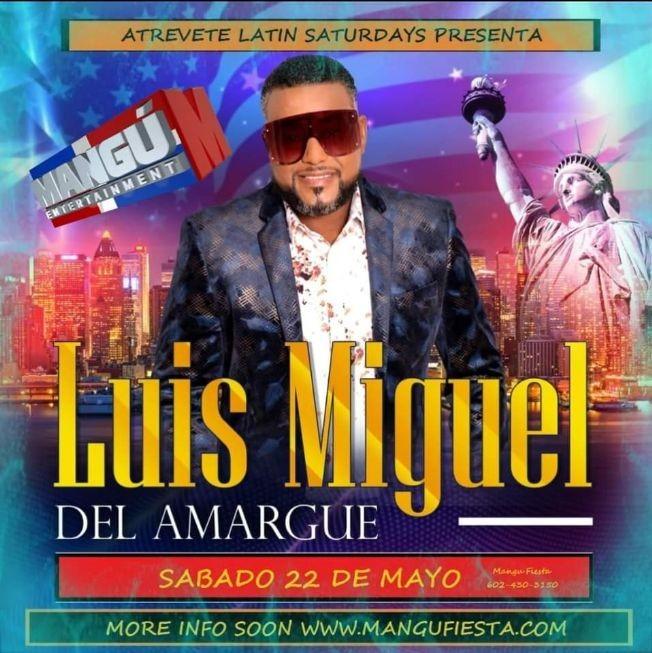 Flyer for Bachata con Luis Miguel del amargue & su orquesta POSTPONED