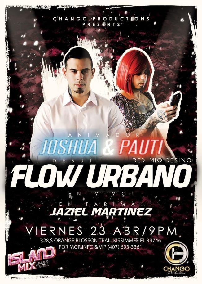 Flyer for El Debut Flow Urbano Y La Pauti