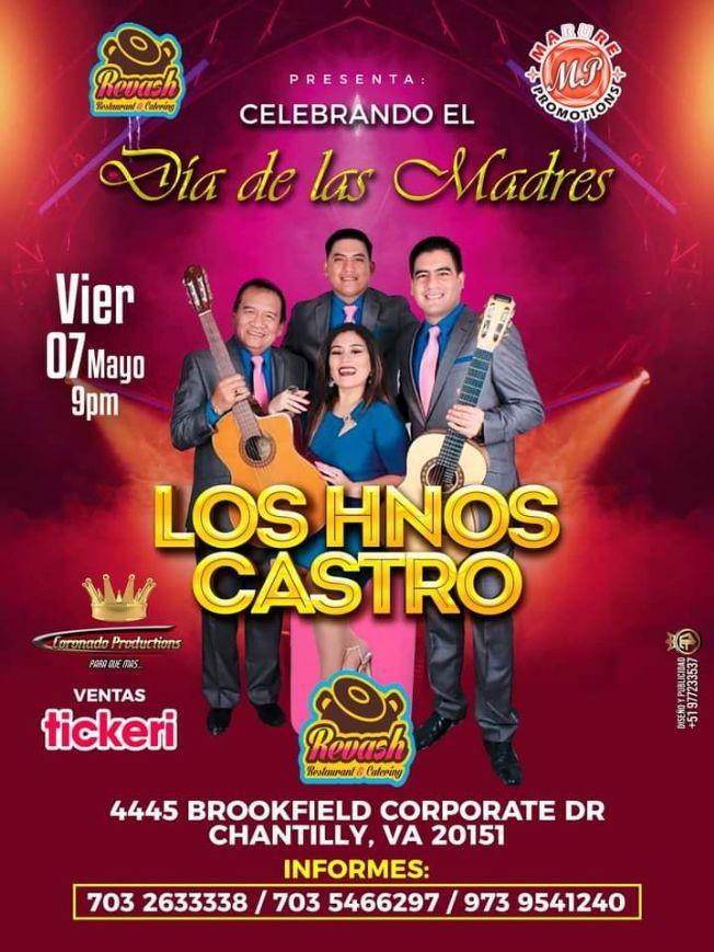 Flyer for SHESSIRA Y LOS HERMANOS CASTRO EN VIRGINIA