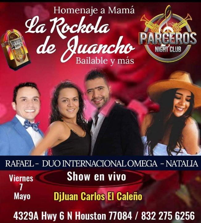 Flyer for Homenaje a Mama con La Rockola de Juancho Bailable y Mas!