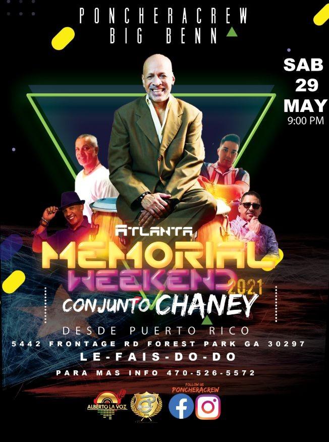 Flyer for Conjunto Chaney en atlanta