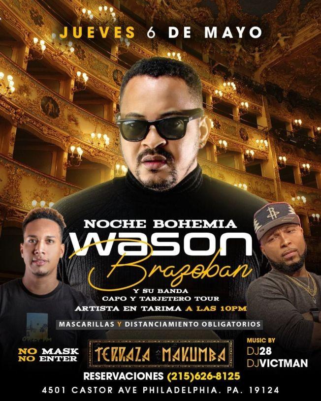 Flyer for Wason Brazoban en Concierto!