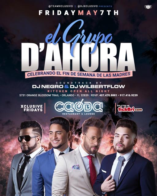 Flyer for EL GRUPO D AHORA
