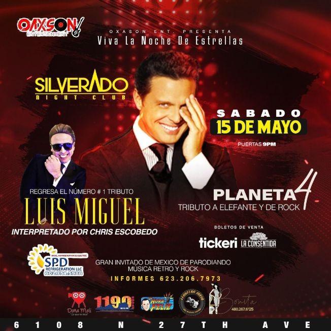 Flyer for Tributo a Luis Miguel en Phoenix