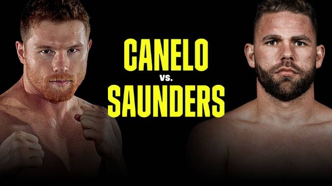 Flyer for Canelo vs Saunders