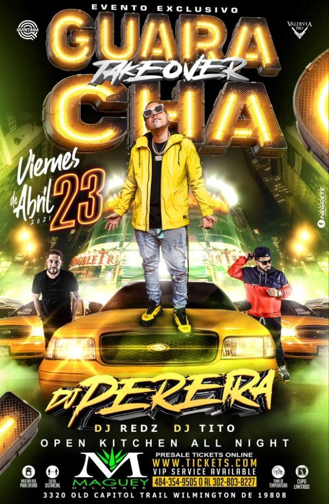 Flyer for DJ PEREIRA LIVE
