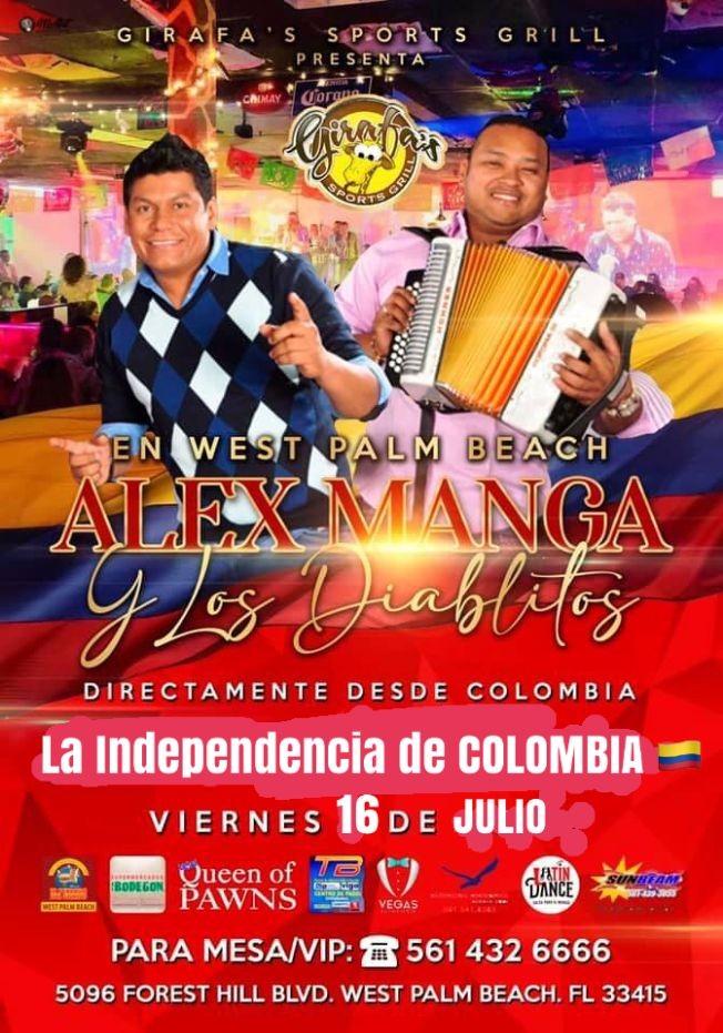 Flyer for Los Diablitos del Vallenato en West Palm Beach !!!