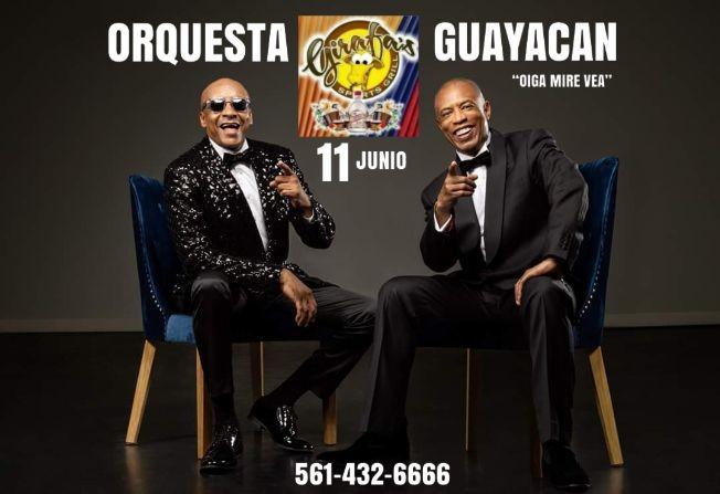 Flyer for GUAYACAN Orquesta en West Palm Beach