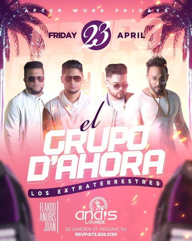 Flyer for El Grupo D'Ahora Los Extraterrestres en Concierto!