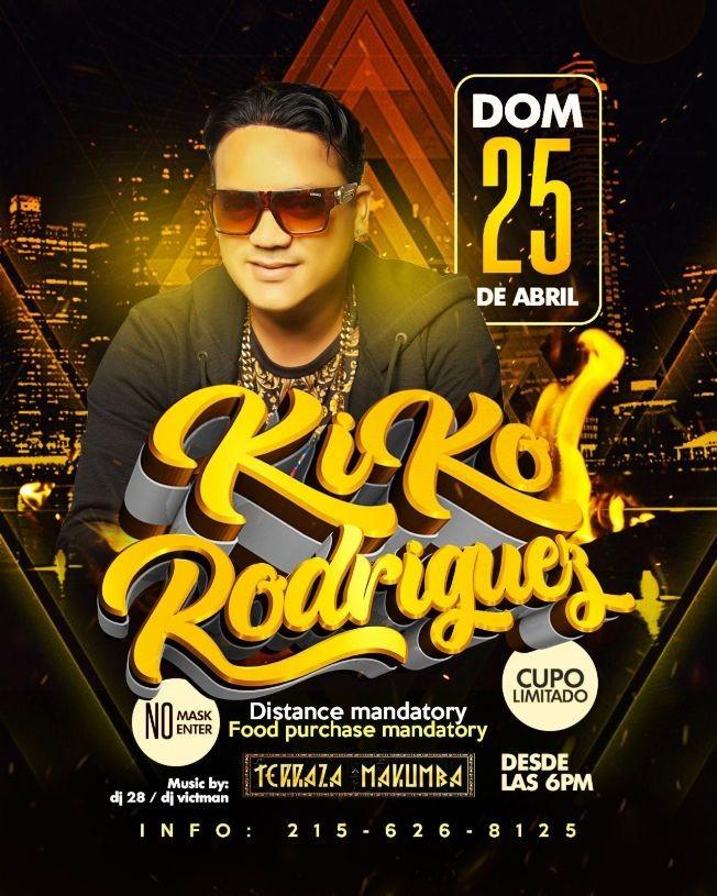 Flyer for Kiko Rodriguez en Concierto!