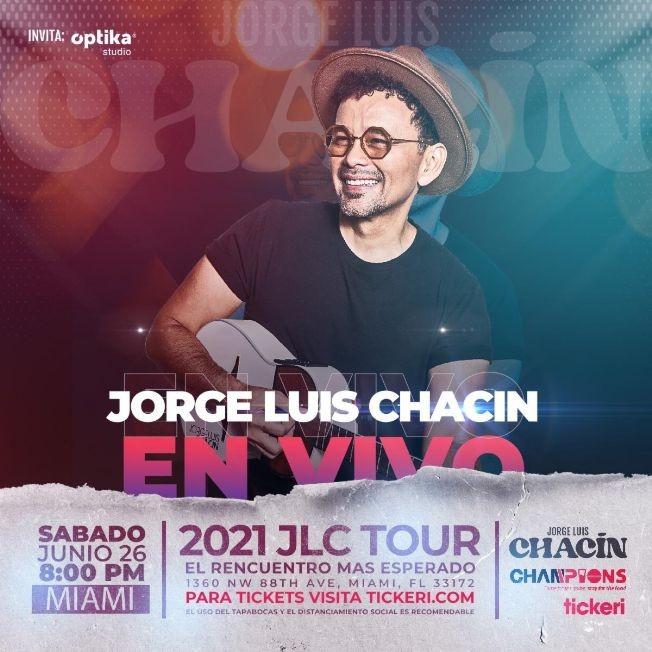 Flyer for Jorge Luis Chacin en Vivo!