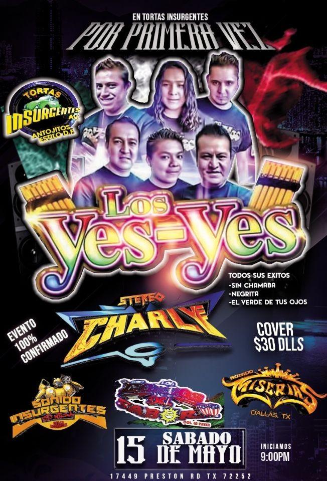 Flyer for Los Yes-Yes en Vivo!