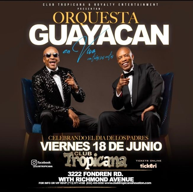 Flyer for ORQUESTA GUAYACAN EN CONCIERTO