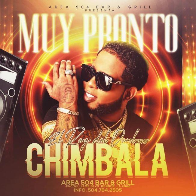 Flyer for El Rey del Dembo Chimbala en Vivo