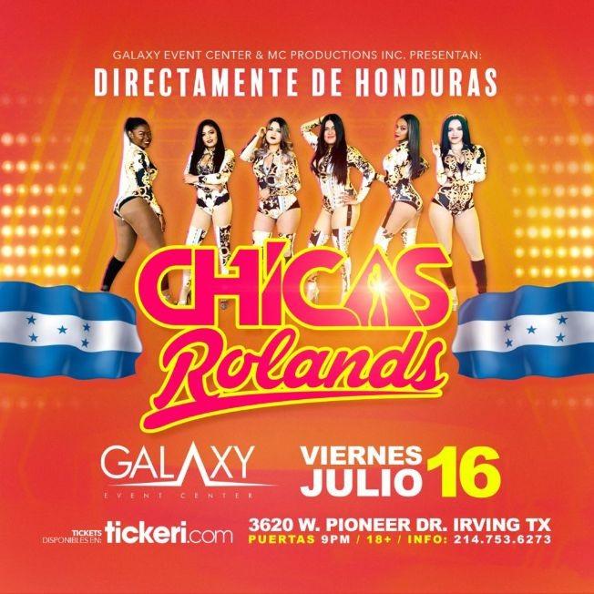 Flyer for Las Chicas Rolands - EN VIVO [IRVING, TX]