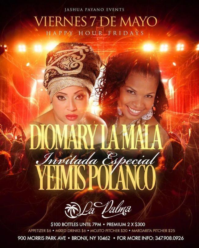 Flyer for DIOMARY LA MALA
