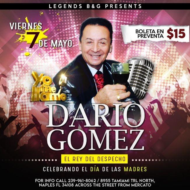 Flyer for Yo me llamo Darío Gómez