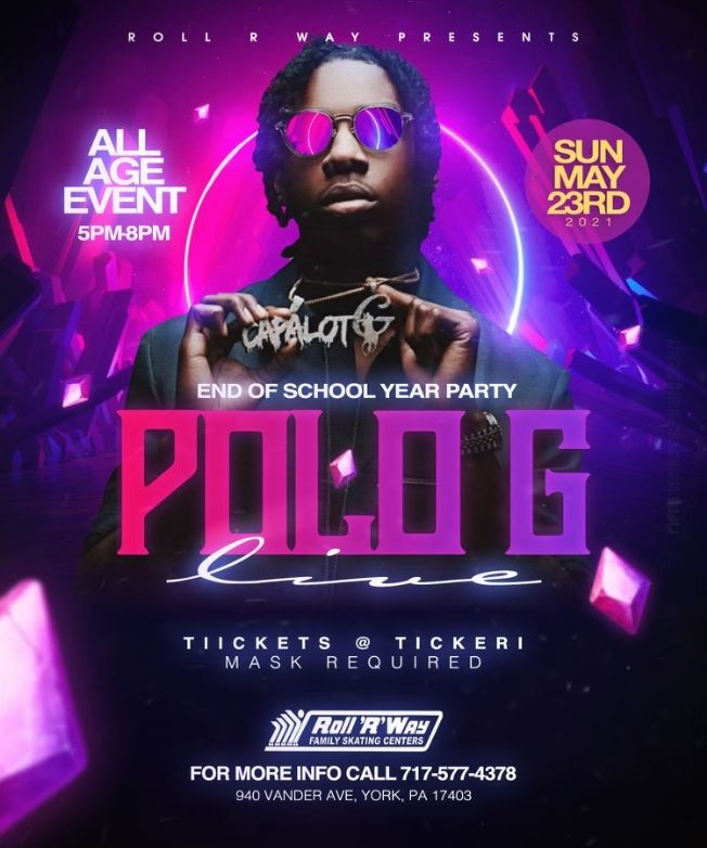 Flyer for Polo G Live