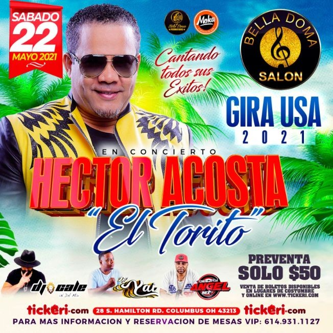Flyer for Hector Acosta El Torito en Vivo!