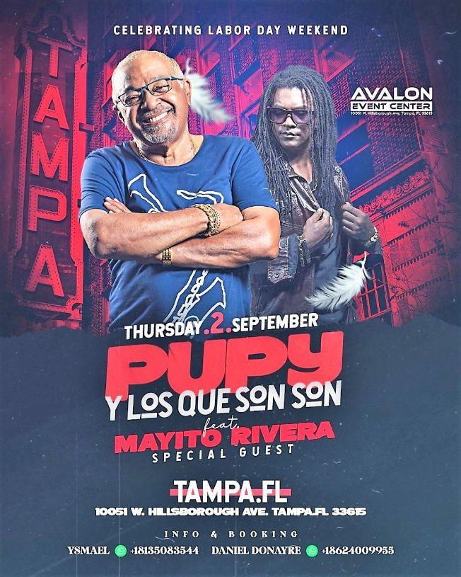 Flyer for PUPY Y LOS QUE SON SON / MAYITO RIVERA