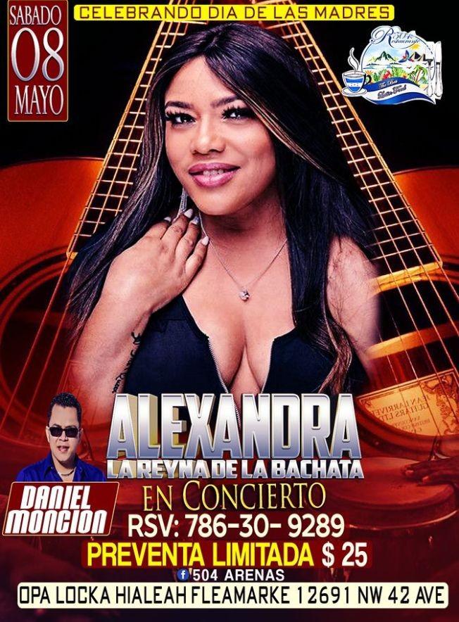 Flyer for Alexandra, la Reyna de la Bachata!