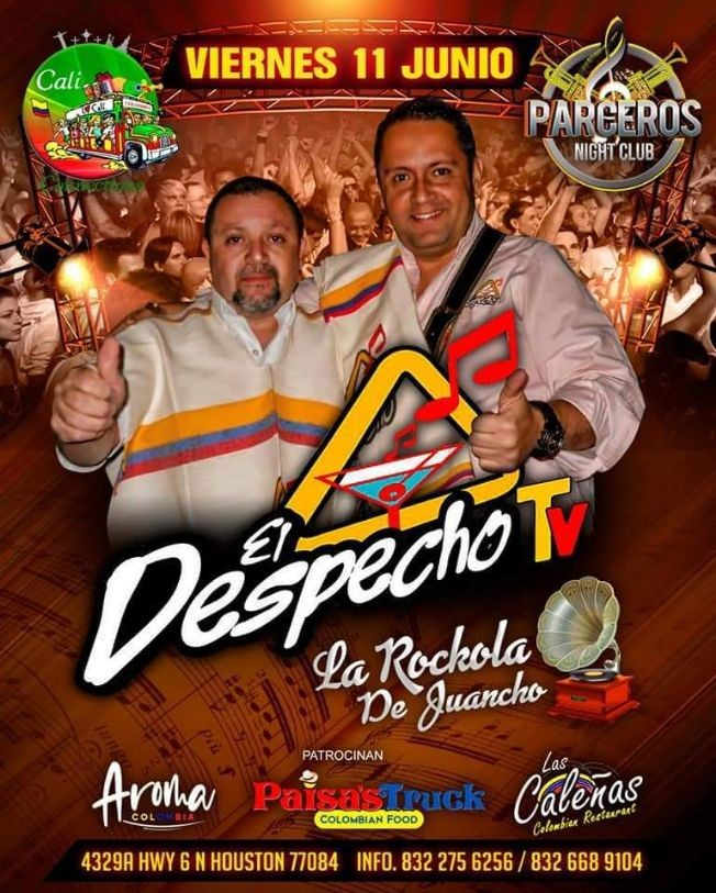 Flyer for VIEJOTECA El Despecho TV con La Rockola de Juancho!