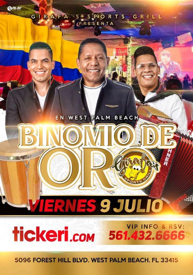 Flyer for Binomio de Oro en West Palm Beach