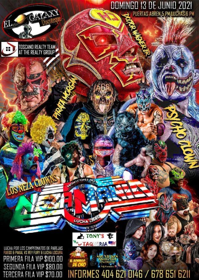 Flyer for Los Neza Clowns en Nezamania Pirata Morgan, Psycho en Vivo!