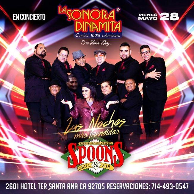 Flyer for 100% Cumbia Colombiana con La Sonora Dinamita con Vilma Diaz en Concierto!