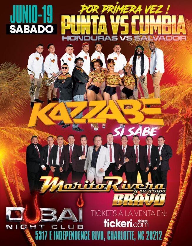 Flyer for Kazzabe Vivo [Charlotte, NC - Dubai Nightclub]