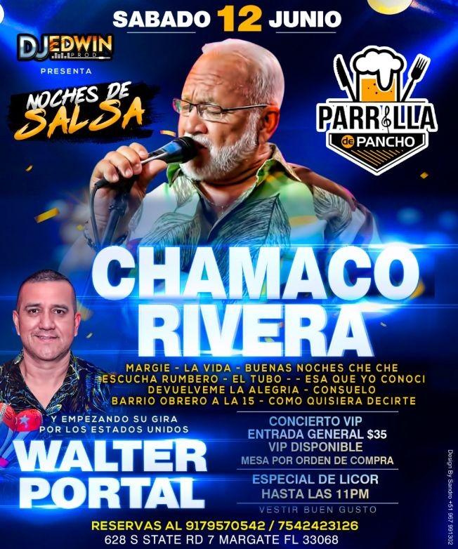 Flyer for DJ Edwin Prod Presenta - Chamaco Rivera