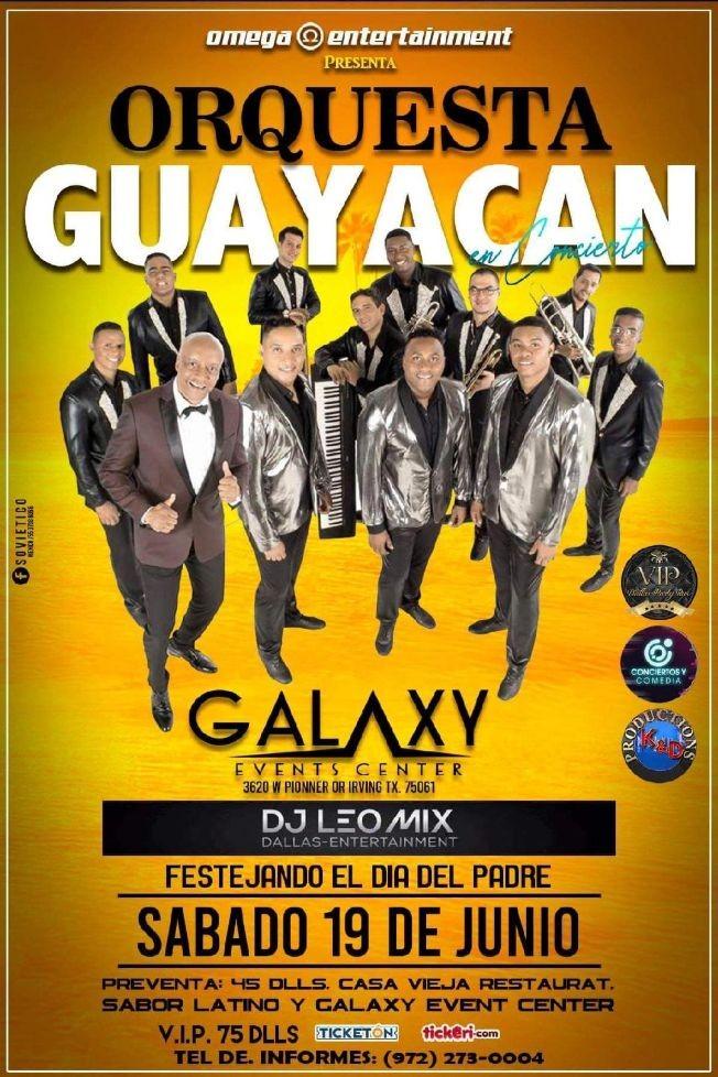 Flyer for ORQUESTA GUAYACAN  EN CONCIERTO