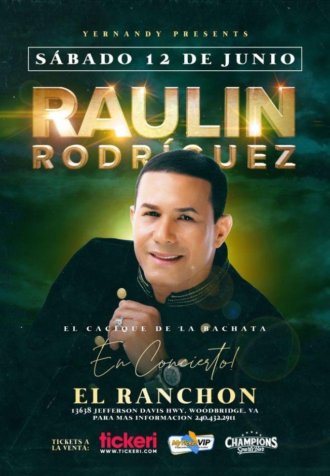 Flyer for RAULIN RODRIGUEZ EN VIRGINIA