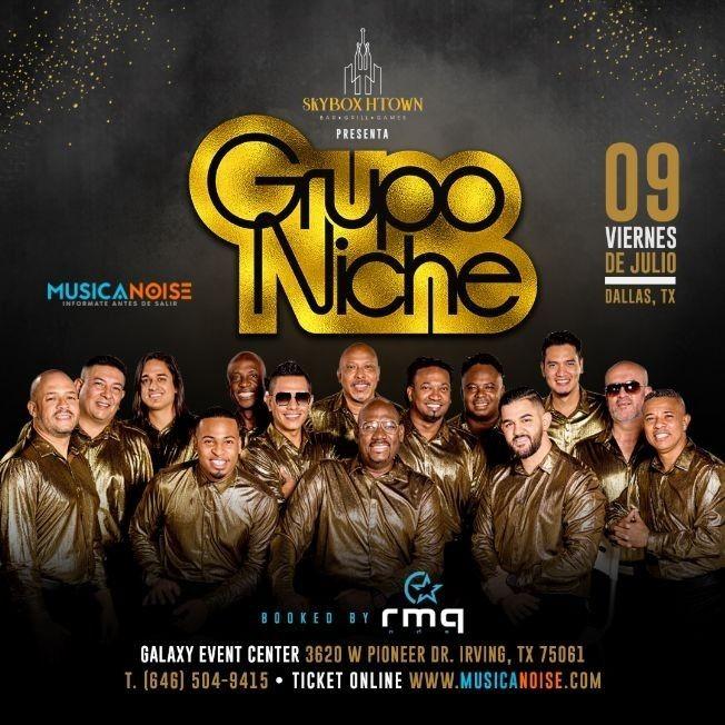 Flyer for Grupo Niche @ Dallas, Texas