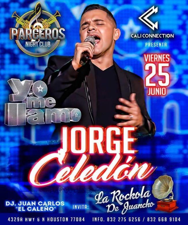 """Flyer for Yo me llamo """"Jorge Celedon"""" en Vivo!"""