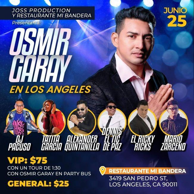 Flyer for Osmir Garay