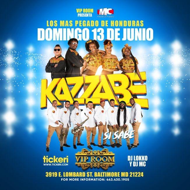 Flyer for Lo Mas Pegado de Honduras: Kazzabe Si Sabe en Vivo!