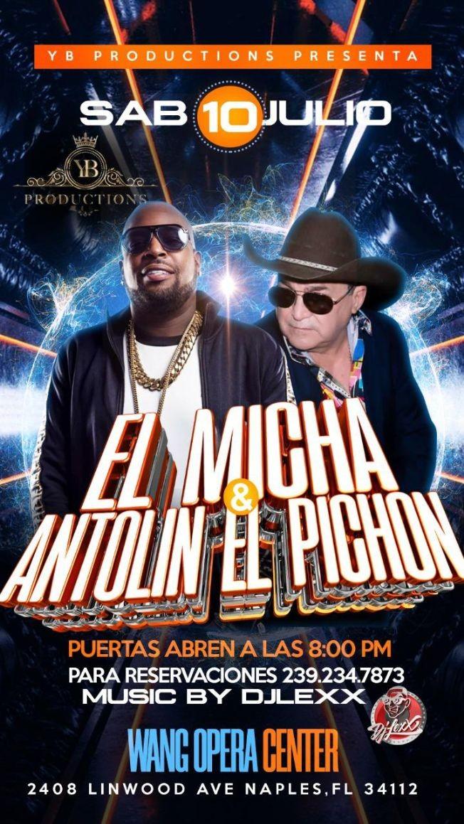 Flyer for EL MICHA - ANTOLIN EL PICHON