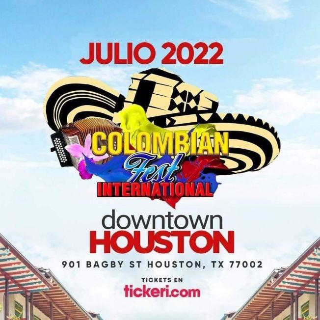 Flyer for NEW DATE: Colombian Fest International 2022 en Houston,TX