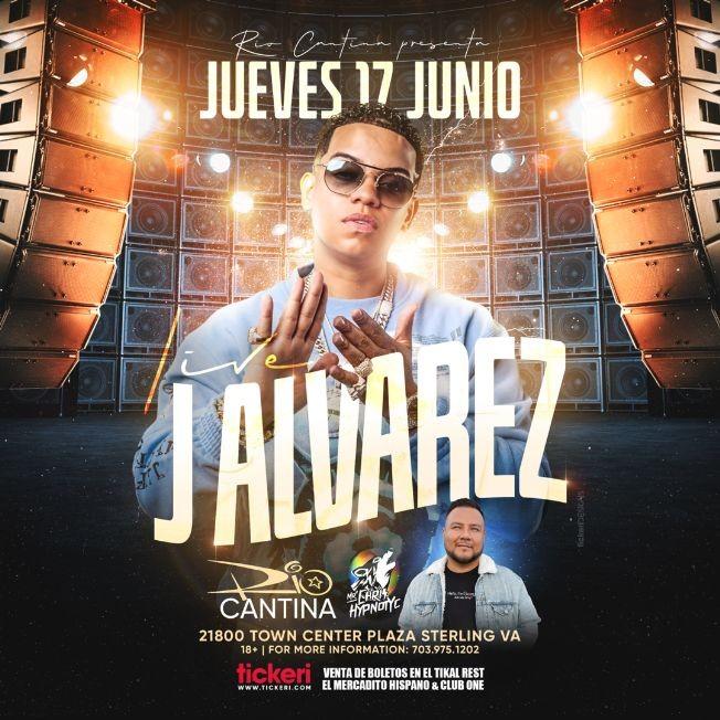 Flyer for J Alvarez en Vivo en Rio Cantina!